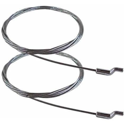 2x cable souple acier universel tondeuse manette gaz accélérateur 1900mm tête en S Z motoculture