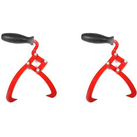 2x Crochet de levage tronçonneuse pince de manutention à bûches 19,5 cm