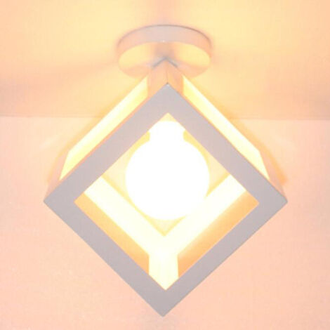 2x Cubo Creativo Candelabro Vintage Lámpara de Techo Antiguo Colgante de Luz de Metal de Hierro para Blanco Loft Bar Office