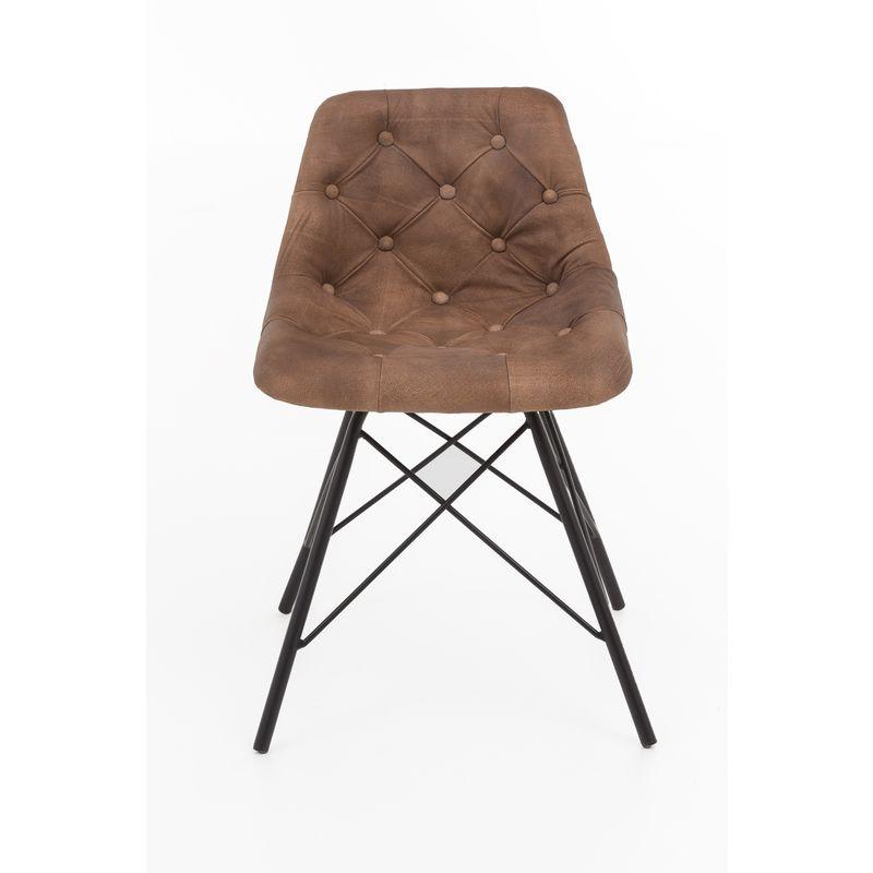 2x Design Ledersessel Stuhl Set Esszimmer Stühle Küchenstuhl Polsterstuhl Sessel A00000324 - INDEX-LIVING