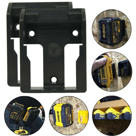 2x Dewalt 18v XR Flexvolt Battery Mount Shelf Wall Belt Tstak Case DCB184 DCB546