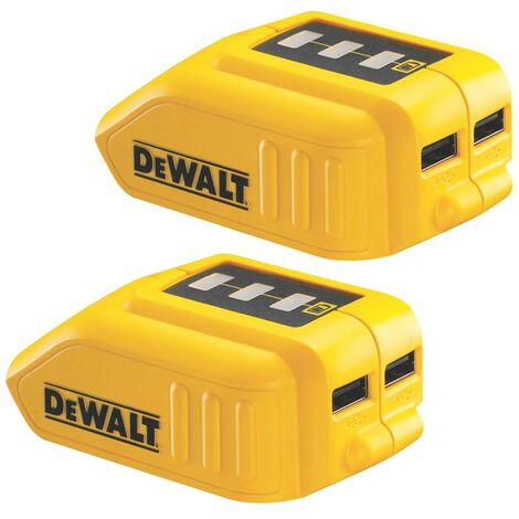 2x Dewalt DCB090 2 x USB Port Battery Charger for 14.4v 18v XR Lithium Batteries