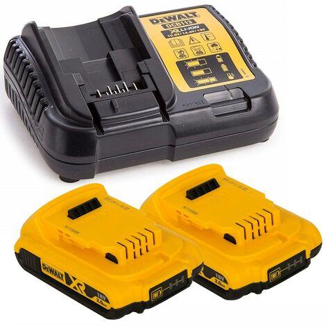 2x Dewalt DCB183 XR 18v Batteries Li-Ion 2.0Ah DCB183 & DCB113 Charger