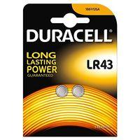 2x Duracell 186 AG12 LR43 L1142 Alkaline Battery 1.5v Watch Calculator Batteries