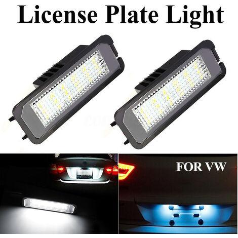 2x éclairage de plaque d'immatriculation à LED pour VW Golf MK4 MK5 MK6 Passat Lupo Polo 9N
