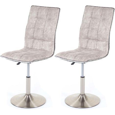 2er Set Küchenstuhl CAPPUCCINO Esszimmerstuhl höhenverstellbar aus Kunstleder
