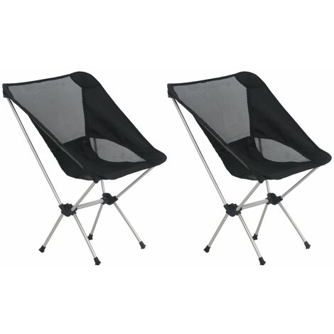 2x Folding Camping Chairs with Carry Bag 54x50x65 cm Aluminium