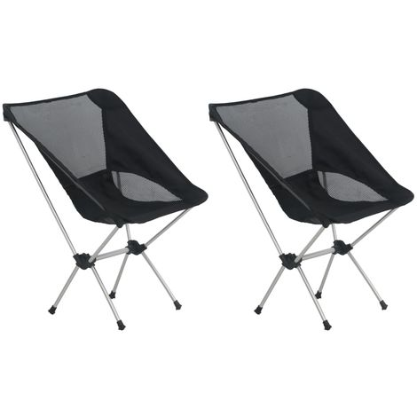 """main image of """"2x Folding Camping Chairs with Carry Bag 54x50x65 cm Aluminium"""""""