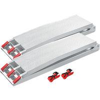 2x folding loading ramp scooter ramp ATV Quad portable alu 89x11.6 inches 1500lbs (226cm 680kg)