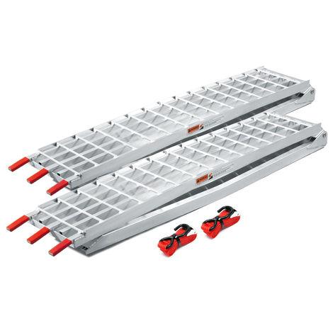 2x folding loading ramp scooter ramp ATV Quad portable aluminium 122x12inches 2400lbs (310cm 1080kg)