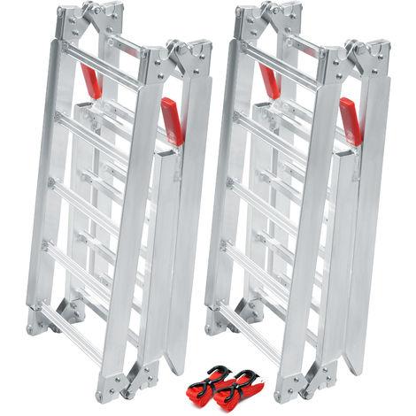 2x folding loading ramp scooter ramp ATV Quad portable aluminium 78.5x12inches 1200lbs (199cm 540kg)