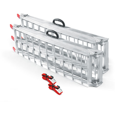 2x folding loading ramp scooter ramp ATV Quad portable aluminium 89x12 inches 1500lbs (226cm 680kg)