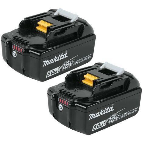2x Genuine Makita 18V 6.0Ah Li-Ion LXT Battery BL1860 6AH New Star Battery