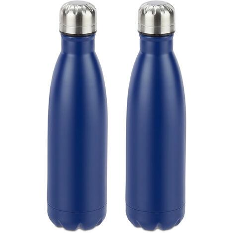 2 F Tupperware ecoeasy Bouteille 750 ml bleu foncé//jaune