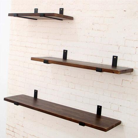 2x Industrial Rustic Scaffold Board Brackets Heavy Duty Steel Shelf Bracket