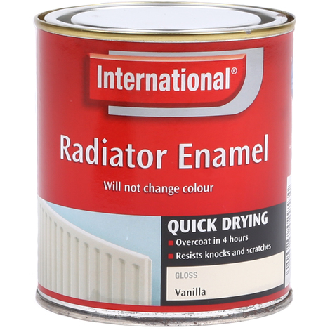 2x International Scratch Proof Radiator Enamel Paint - Vanilla - 500ml