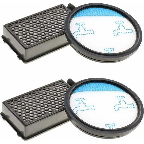 2x Juego de filtros de aspiradora Hepa para aspiradoras ciclónicas Rowenta Compact Power como RO3731EA, RO3724EA, RO3753EA, RO3786EA, RO3798EA, RO3718EA, RP3721EA, filtros como ZR005901