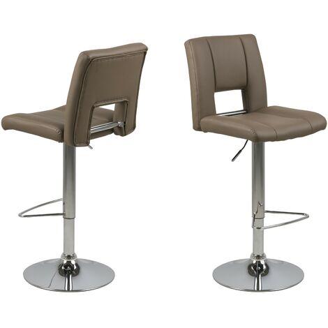 2x Kunstleder Barhocker Syra braun Bar Theke Tresen Hocker Küche Stuhl Set11-0000088615