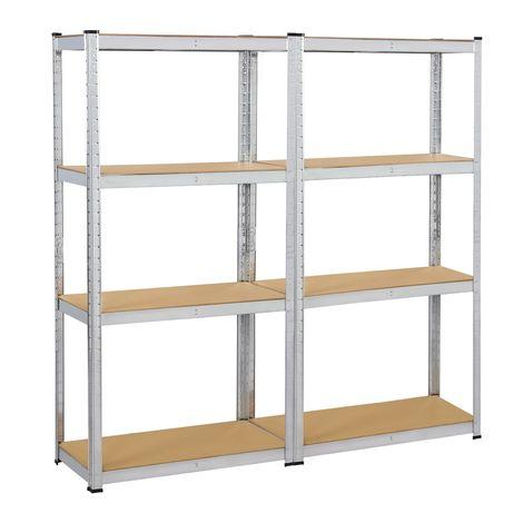 2X Lagerregal 160x 80 x 40 cm Schwerlastregal mit 5 MDF-Platten Kellerregal Werkstattregal 640 kg belastbar