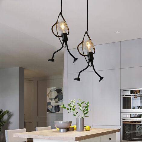 2x Lámpara colgante lámpara de techo vintage Creativo Luz colgante de Lámpara Salon Techo para comedor, dormitorio, sala de estar