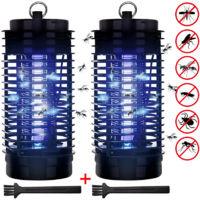 2x Lampe anti-moustiques LED 4W piège insectes volants 50m² maison électrode