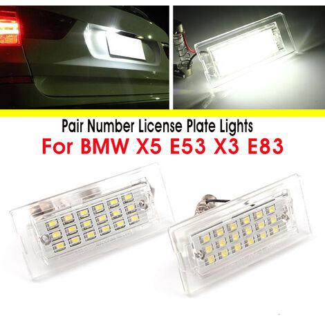 2x lampe d'éclairage de plaque d'immatriculation sans erreur pour BMW X5 E53 X3 E83 2003-10
