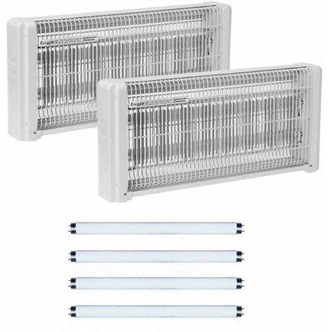 2x Lampe Tue insecte electrique 30w destructeur moustique + 4 Tubes de recharge