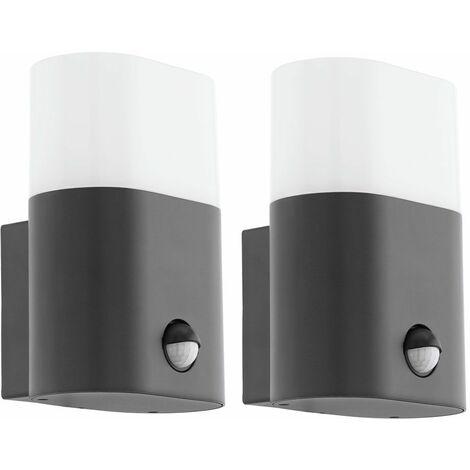 2x LED aplique exterior terraza lámpara de jardín ALU antracita DETECTOR DE MOVIMIENTO