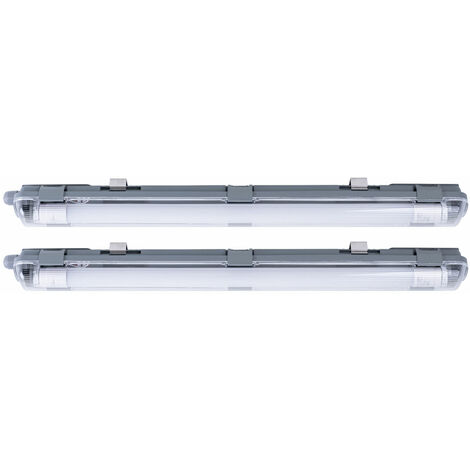2x LED bañeras lámparas sótano hall techo focos húmedo -tubos luces de tubo
