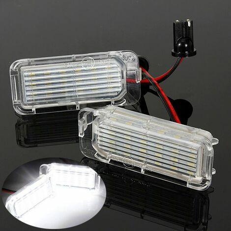 2x LED Feux Plaque D'immatriculation Éclairage pr Ford Fiesta Focus Kuga C-MAX Mondeo