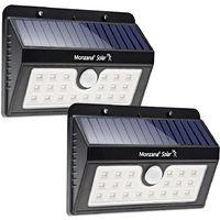 2x LED Solar Light Sensor Security Light Motion Detector 20 LEDs