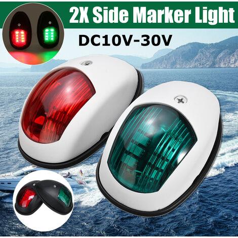 2x luz de navegación de luz de marcador lateral LED de barco marino de estribor blanco 10V-30V