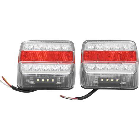 2x Luz trasera bombillas para caravana remolque 12V tablero E4 universal camión