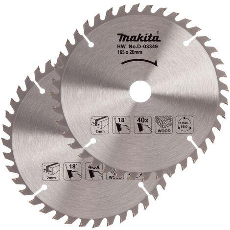 2x Makita D-03349 Circular Saw Blade 165 X 20 40 Teeth Suit DSS611 DSS610 DHS680