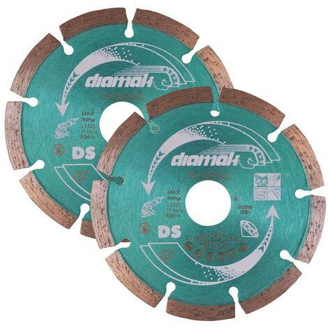2x Makita D-61123 SEG Diamond Cutting Disc 115mm Blade Concrete Stone Cutter
