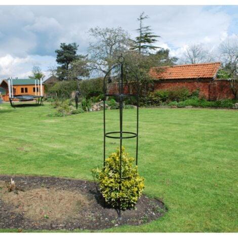 "main image of ""2x Metal Garden Obelisk Climbing Plant Support Frame"""