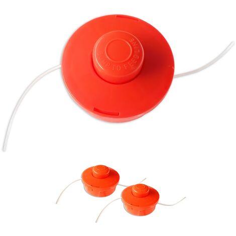 2x Nemaxx FS1 cabezal de doble hilo semiautomático - cabezal de corte de siega -accesorios de corte - hilo de nylon - carrete para desbrozadora gasolina – naranja
