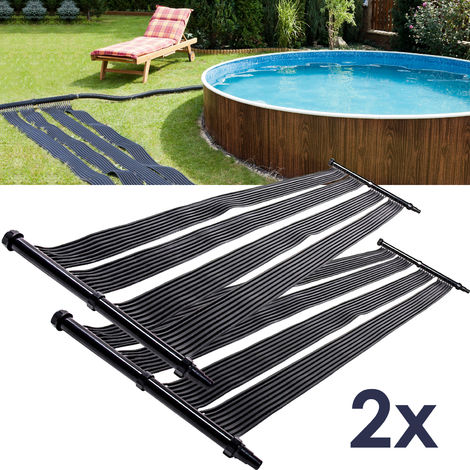 "main image of ""2x Nemaxx SH3000 Chauffage Solaire 3 m - chauffage solaire de piscine, chauffage solaire, tapis chauffant de piscine, collecteur solaire de piscine"""