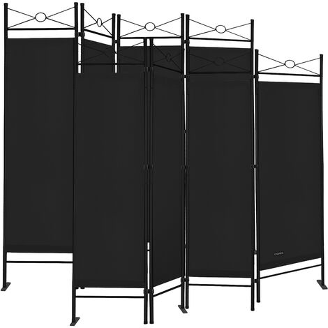 """main image of """"2x Paravent Room Divider Screen Black 4 Pieces Privacy Seperator Wall Partition"""""""