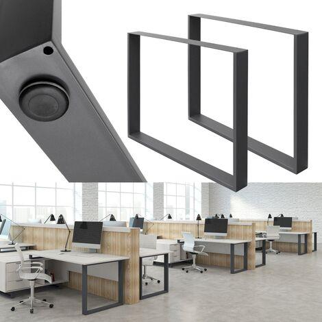 2x Patas de mesa armazón protección suelo oficina/escritorio/banco 90x72 cm