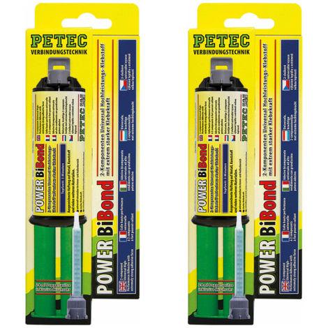 2x Petec Power Bibond 2 Komponenten Hochleistungsklebstoff 24ml