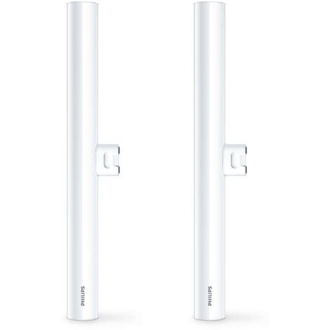 2x Philips LED 60W S14D Architectural Tubular Tube Light Bulbss 375Lm Warm White