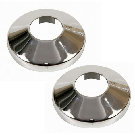 2x Pièces Chromé PVC Plastique Tuyau Couverture Collier Rose 18 mm Diamètre