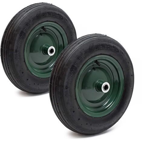 2x Pneumatic Tyre Wheelbarrow Size 3.50-8