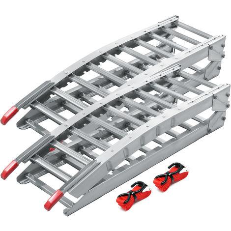 2x rampe de chargement moto atv quad pliable acier rail d. Black Bedroom Furniture Sets. Home Design Ideas