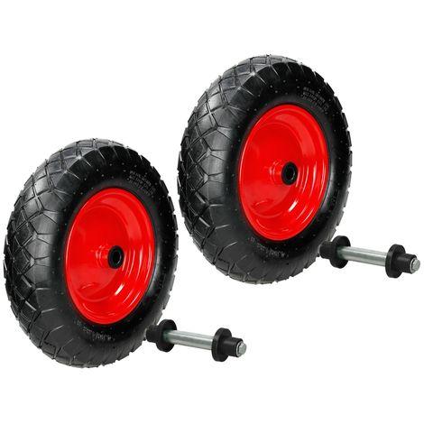 2x Rueda de repuesto carretilla 4.80 /4.00-8 diámetro del neumático Ø 390mm