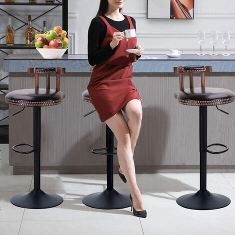 2x Rustic Industrial Vintage Retro Breakfast Bar Stool Kitchen Counter Chairs - Different colours