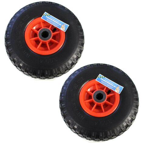 Bockrolle 260x85 mm 3.00-4 PU Laufrad Reifen Rad Rolle  Pannensicher Vollgummmi