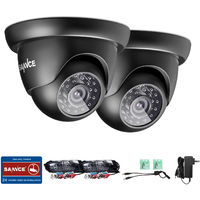 2X SANNCE 720P HD Security Dome Cameras