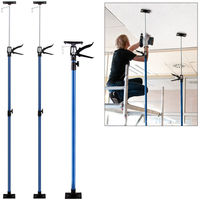 2x Set Ceiling Prop Adjustable Dry Wall Support Telescopic Builders Ceiling Props Steel Tube Plasterboard 30 Kg 115 - 290 cm